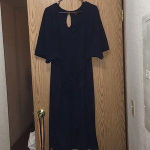 Eloquii Navy Blue Kimono Dress
